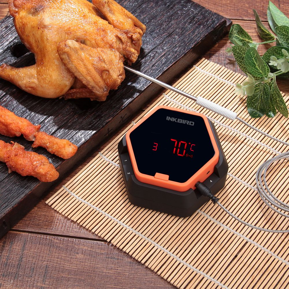 Inkbird IBT-6X Digital Food Cooking Bluetooth Wireless BBQ <font><b>Thermometer</b></font> With Six Probe For Oven Meat Grill Smoking BBQ Free APP