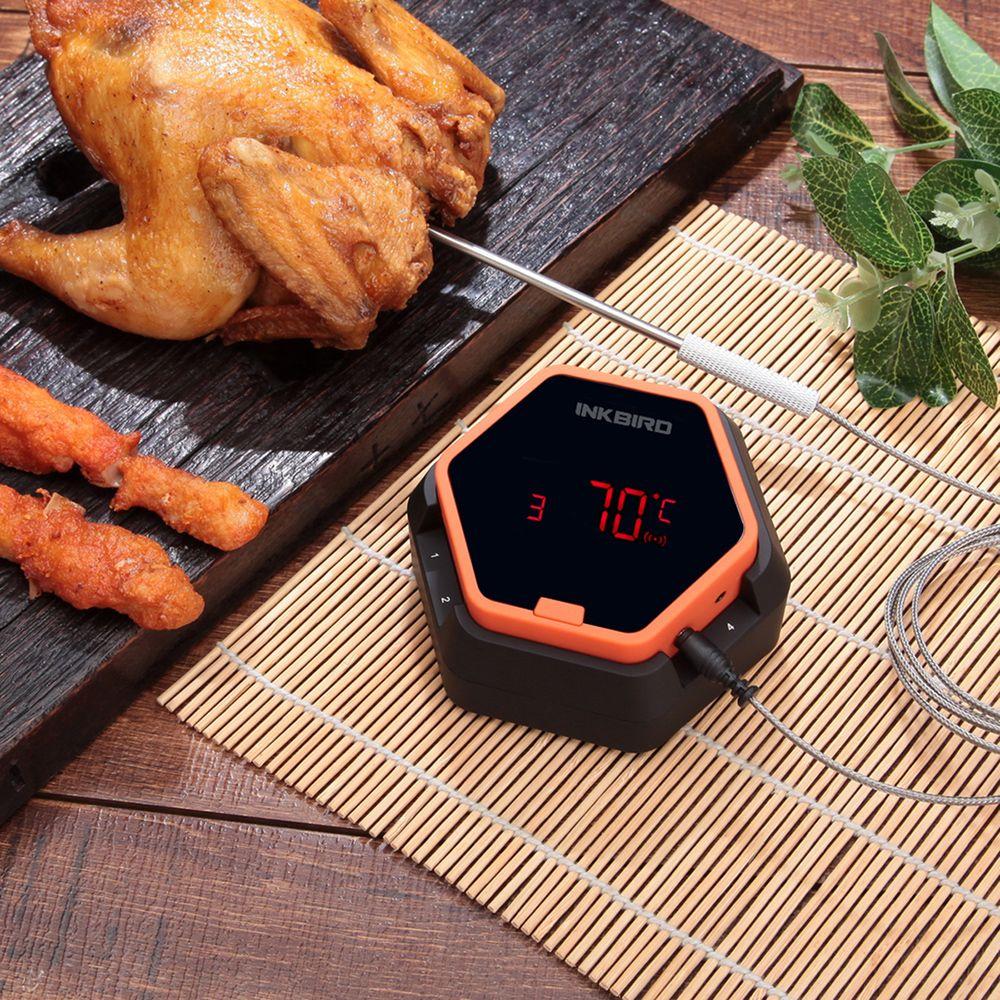 Inkbird IBT-6X numérique cuisson des aliments Bluetooth sans fil BBQ thermomètre avec Six sonde pour four viande Grill fumer barbecue gratuit APP