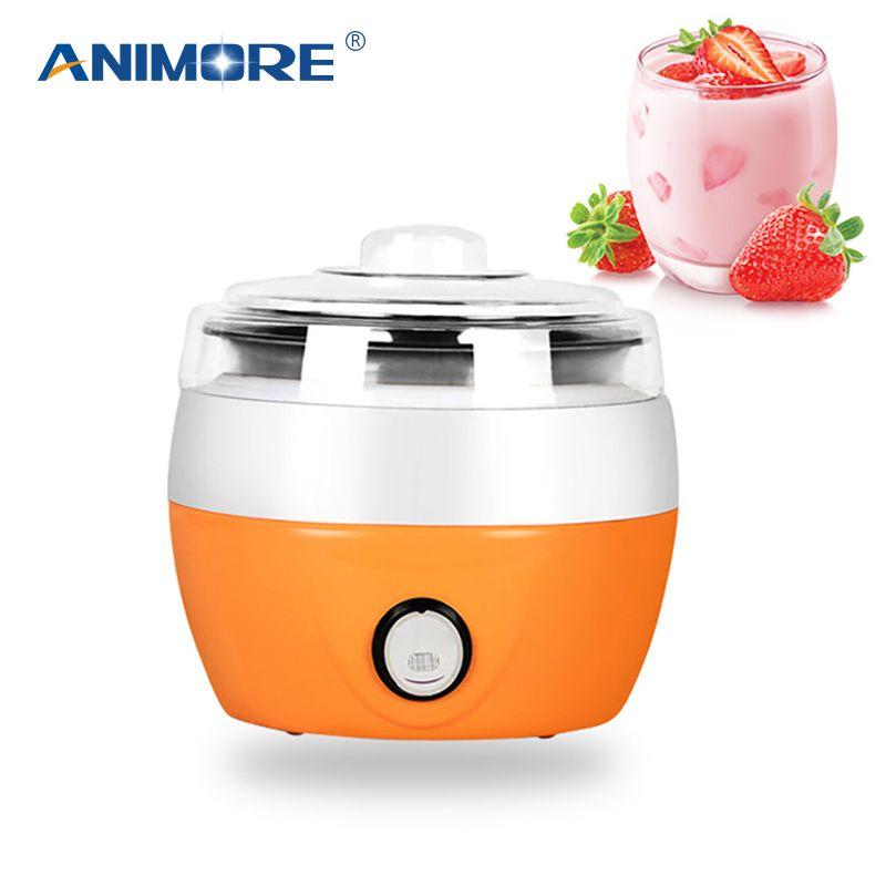 ANIMORE yaourtière électrique yaourtière bricolage outil appareils de cuisine revêtement automatique matériel en acier inoxydable yaourtière YM-01