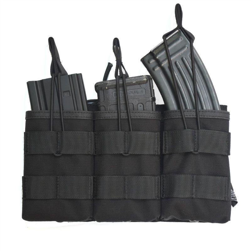 Poche de Magazine tactique MOLLE Triple à dessus ouvert OneTigris poche de Paintball militaire rapide AK AR M4 FAMAS