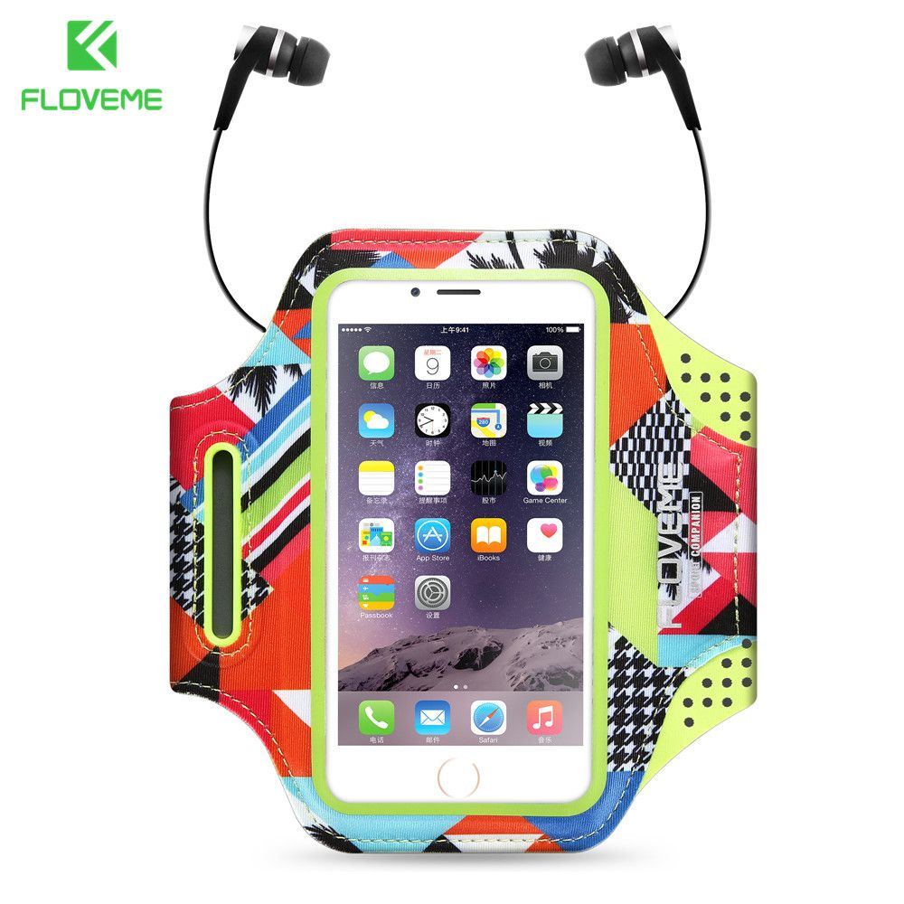 FLOVEME Sport Armband Case for iPhone 7 8 Plus Waterproof Gym Accessories For iPhone Universal Running Phone Pouch Bag Arm Band