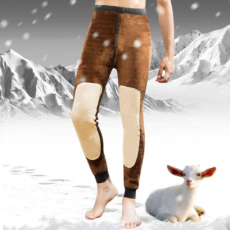 2017 Nuevo Mens Caliente Del Invierno de las Polainas Calientes Apretados Los Hombres de Largo Johns Más Tamaño Ropa Interior de Abrigo Elástico Medias Hombres Calientes Termales pantalones