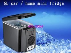 2018 nuevo 6L mini refrigerador del coche inicio dormitorio refrigerador del coche frío puede ser insignia impresa