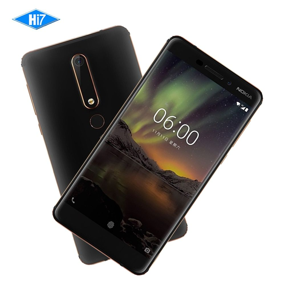 2018 Nokia 6 Second generation 2nd TA-1054 Android 7 Snapdragon 630 Octa core 5.5'' <font><b>16.0MP</b></font> 3000mAh 4G RAM 32G ROM Mobile phone