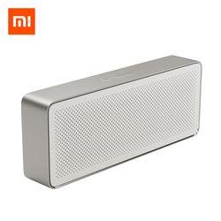 Оригинальный Xiaomi Mi Bluetooth динамик квадратная коробка 2 стерео портативный Bluetooth 4,2 HD Высокое разрешение качество звука воспроизведение музык...