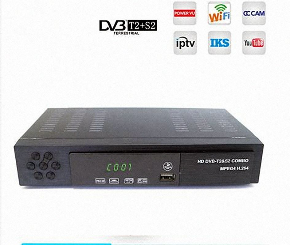 Digital Terrestrial Satellite TV <font><b>Receiver</b></font> DVB T2 S2 COMBO DVB-T2 dvb-S2 TV BOX 1080P Video HDMI Out for Russia Europe DVBT2+S2-1