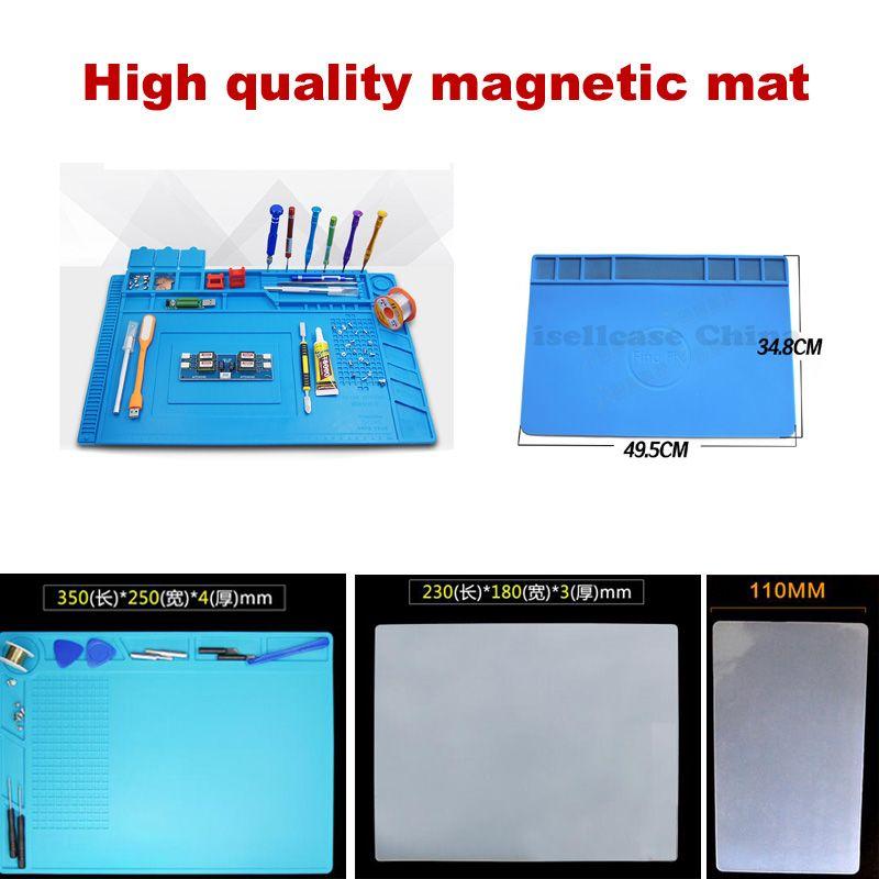 Wozniak S-160 big Heat Insulation Silicone magnetic Pad BGA Soldering Repair Station Maintenance Platform with Screw Mat Section