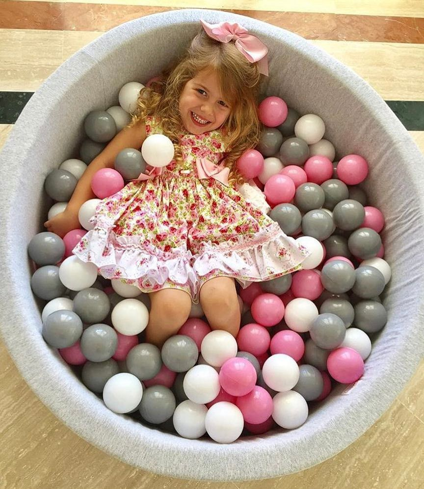 LK-76 Hot Sell Foldable Indoor Safety Eco-friendly Foam Ocean Ball Pool Round Washable Soft Ball Pool For Kids Infant Play Tool