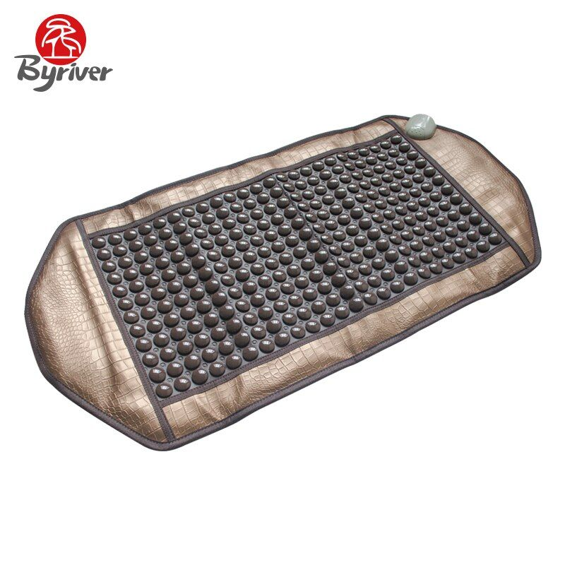 BYRIVER Jade Tourmaline Germanium Anion Ceramic Stone Thermotherapy Far Infrared Electirc Heating Pad Body Massager Bed Mattress