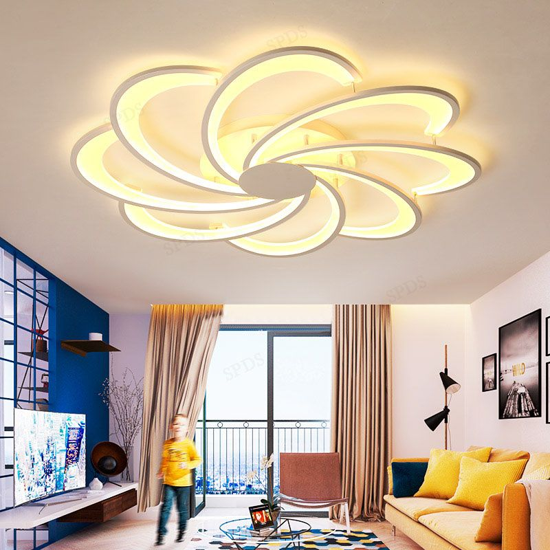 Modern aluminum LED Surfacemounted lamparas de techo ceiling lamp Indoor lighting Simple fashion flower ceiling lamp