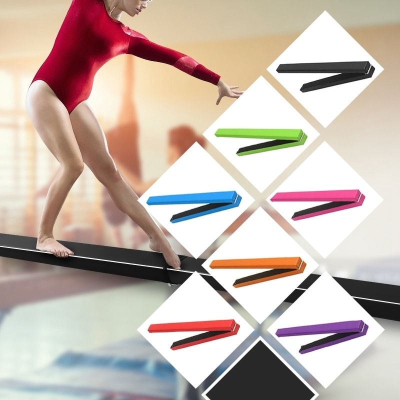 8ft Gymnastik Klapp Gleichgewicht Strahl Gymnastik Schaum 2,4 mt Harte Tragen Suedine Gymnastik Gym Training Ausrüstung