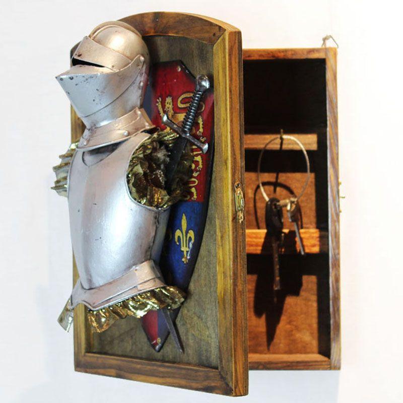 European antique wall ornaments / medieval armor decoration / living room restaurant entrance decorations