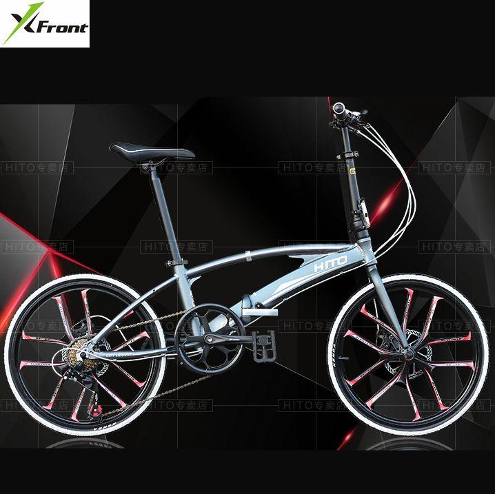 Nouvelle marque 20/22 pouces roue en alliage d'aluminium cadre double tube vélo pliant extérieur BMX bicicletas frein à disque vélo