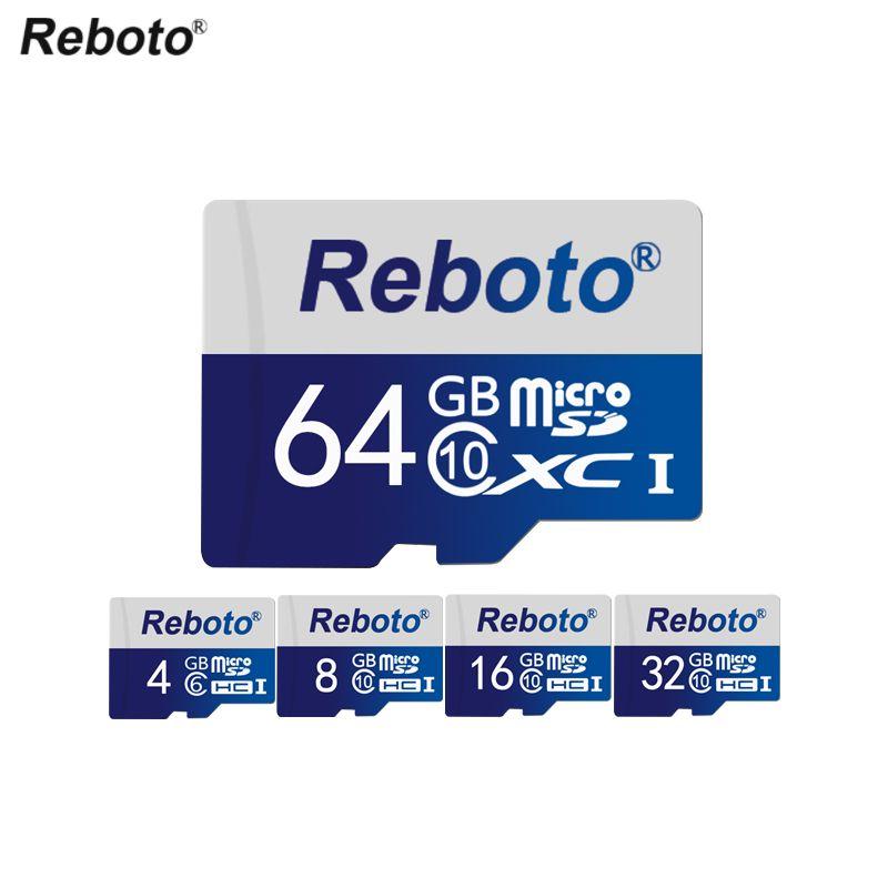 Горячая Micro SD Card 64 ГБ 32 ГБ MicroSD uhs-i Class 10 высокая Скорость карты памяти 16 ГБ 8 ГБ c10 reboto TF карты для смартфона