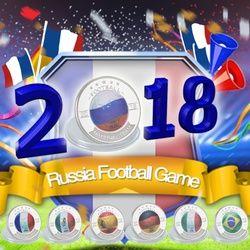 WR envío 2018 Rusia Copa del Mundo monedas de plata conjuntos numismática Euro Monedas colector Fútbol para regalos de cumpleaños de recuerdos