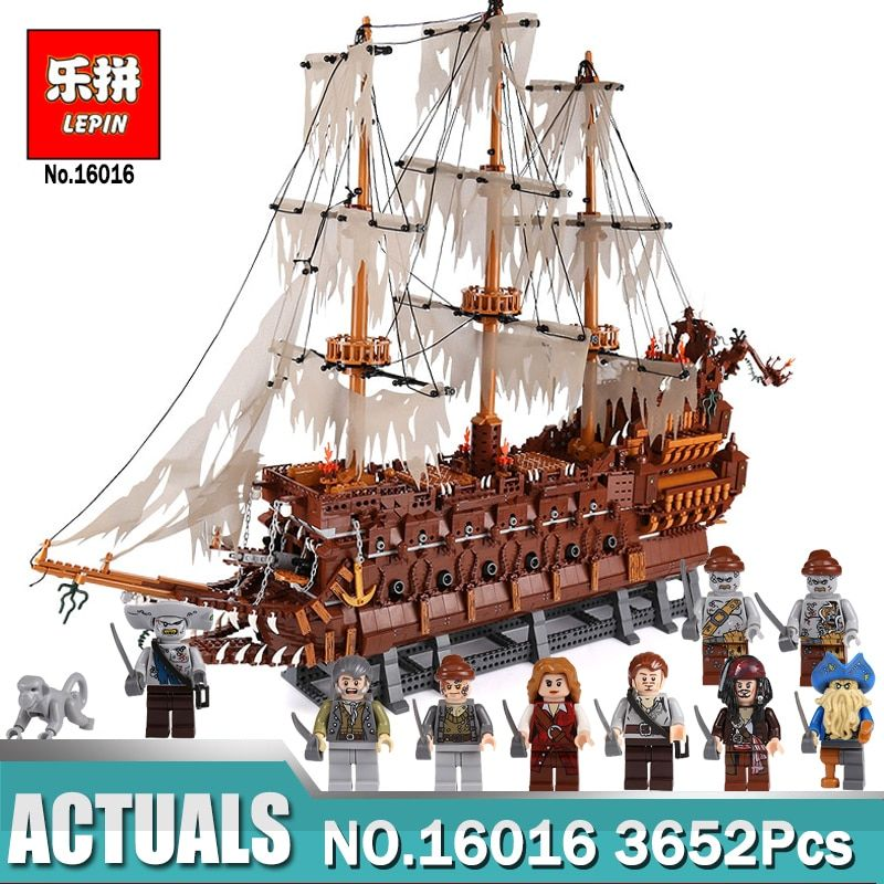 Lepin 16016 3652Pcs Movies Series MOC The Flying the Netherlands Building Blocks Bricks Compatible legoing Toys for Children