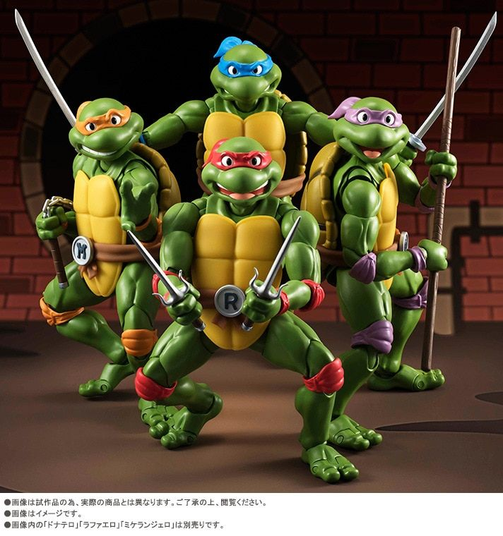 Children's gift 4 pieces/set Teenage mutant ninja turtles handmade model Joints can be moving doll toys