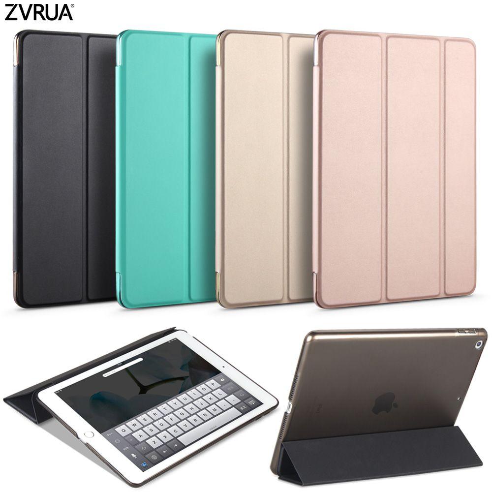 Cas pour Nouvel iPad 9.7 pouce 2017 2018, ZVRUA Youpi Couleur PU Smart Cover Cas Aimant réveil sommeil modèle A1822 A1823 A1893 A1954