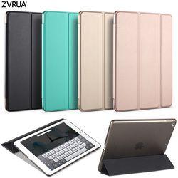 Caso para el nuevo iPad 9,7 pulgadas 2017 2018, ZVRUA YiPPee Color PU caso elegante de la cubierta imán wake up sleep modelo A1822 A1823 A1893 A1954