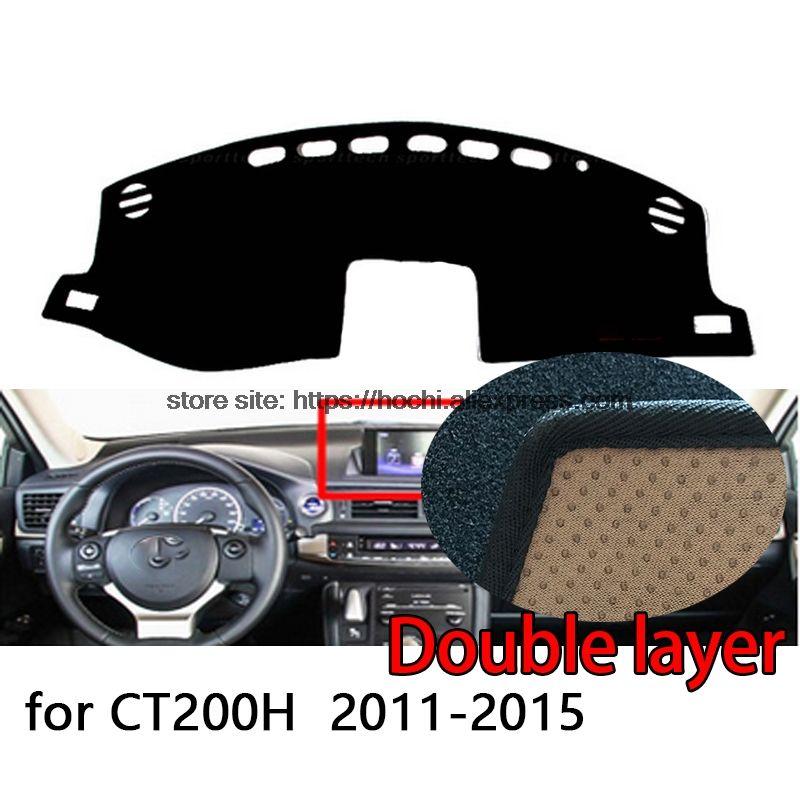 For lexus CT200H 2011-2015 Double layer Silica gel Car Dashboard Pad Instrument Platform Desk Avoid Light Mats Cover Sticker