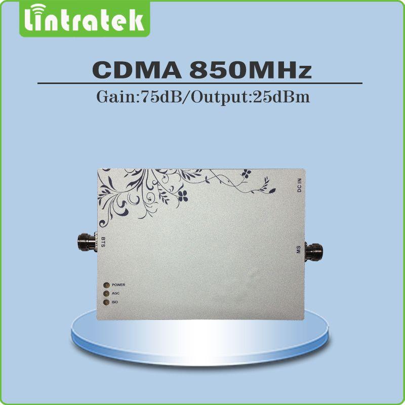 Gain 75dB CDMA Booster repetidor de celular 850MHz cdma cell phone signal repeater cdma 850 mhz booster With AGC/MGC function