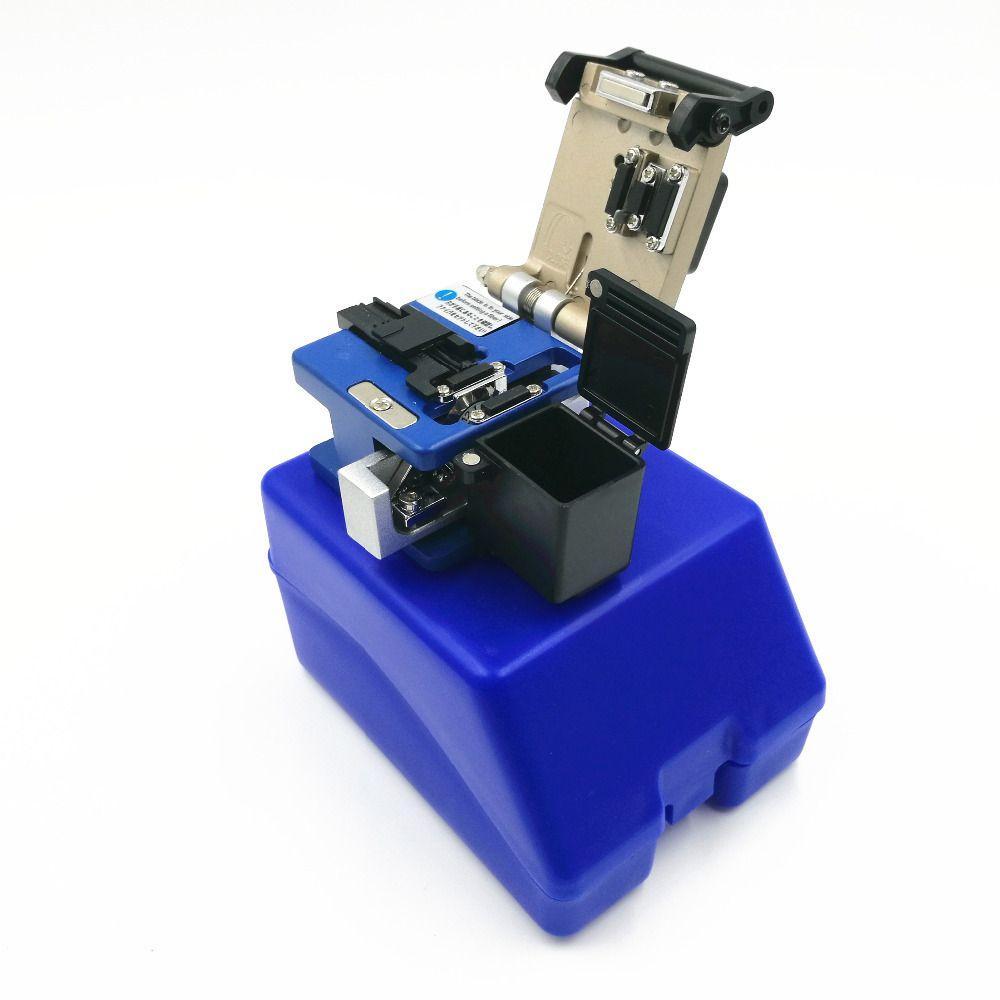 Avec des déchets boîte de fiber Fendoir De Fiber Optique Connecteur FC-6S Fiber Optique Cleaver Fiber cutter boîte en plastique