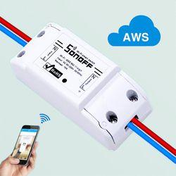 ITEAD Sonoff Wifi inalámbrico interruptor Universal módulo domótico inteligente temporizador Diy controlador remoto Wifi vía iOS androide Alexa