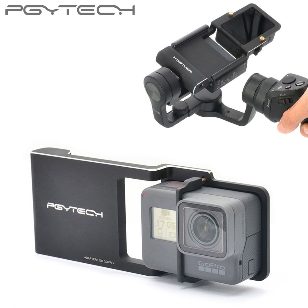 PGYTECH Gopro Hero 5 4 3 + zubehör Adapter schalter montageplatte für DJI osmo handy kameraausrichtung zhiyun xiaoyi 4 Karat Feiyu