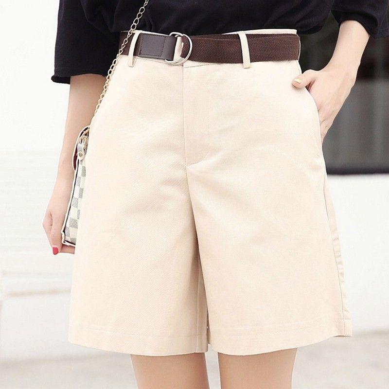EXOTAO été femmes Shorts lâche OL taille haute plafones Mujer mode large jambe courte pantalon all-match 5 couleurs Cortos