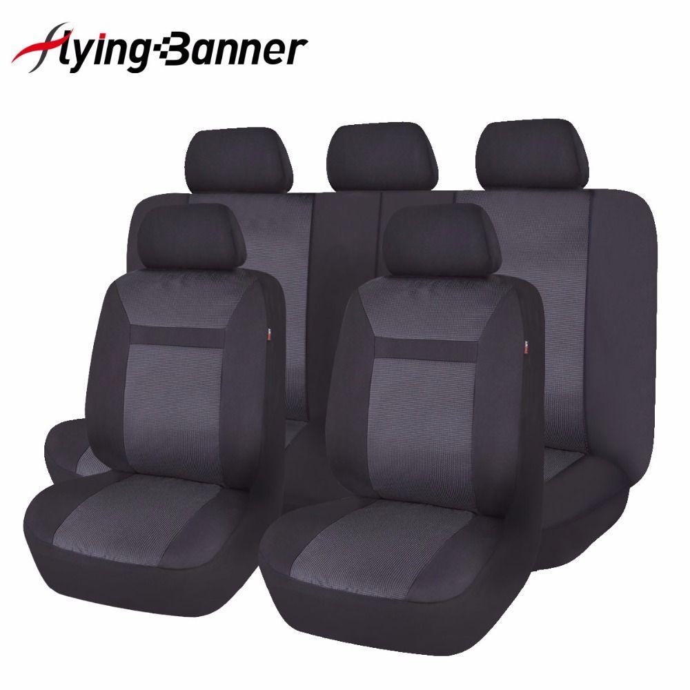 2018 ensemble complet housse de siège de voiture universel mode Jacquard tricoté Auto housses de siège accessoires d'intérieur de voiture couleur noir/gris/Beige