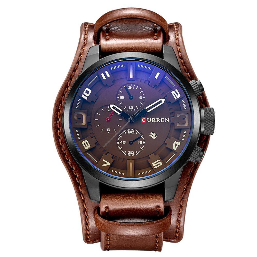 Relogio Masculino Mens Watches Top Brand Luxury Leather Strap Waterproof Sport Men Quartz Watch Military Male Clock Curren 8225