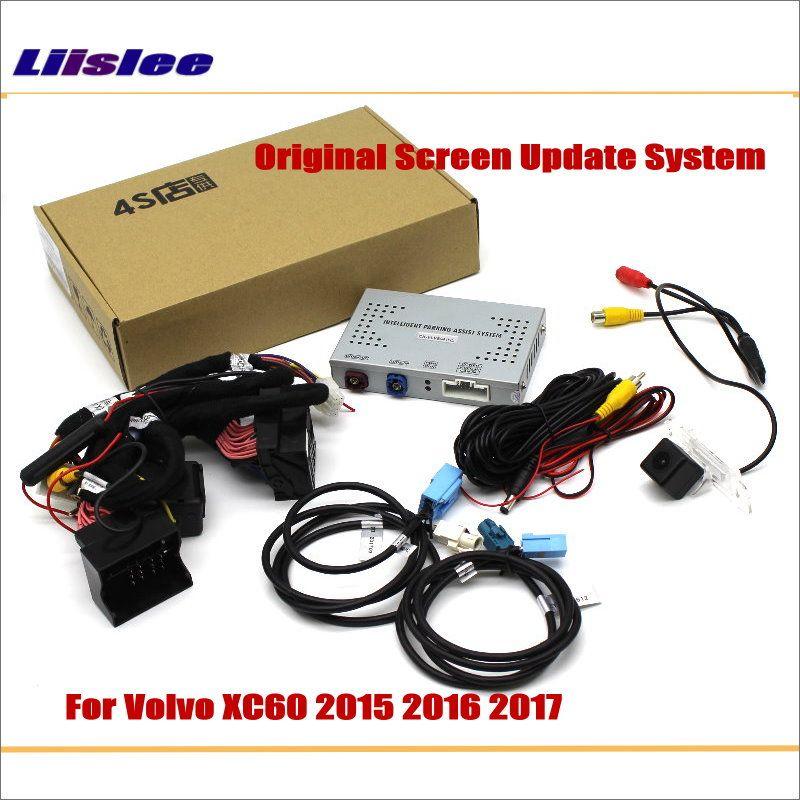 Liislee Für Volvo XC60 2015 ~ 2017 Original Bildschirm Update System/Umkehr Track Bild + Umge Hinten Kamera/ digital-Decoder