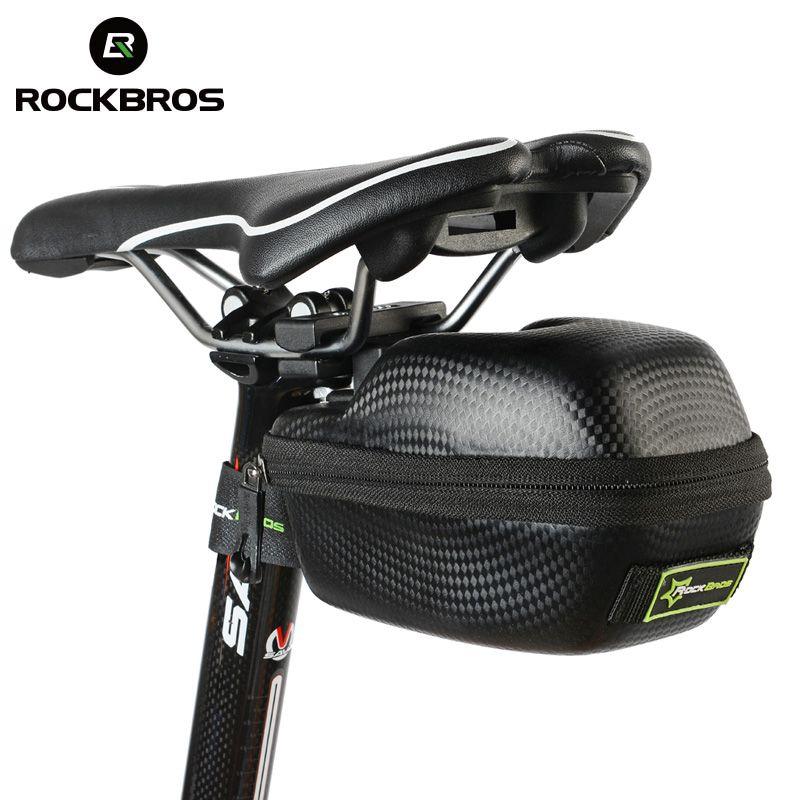ROCKBROS Road Bike Saddle Bag MTB Mountain Bicycle Seat post Bag Cycling bicicleta Waterproof Seat Tail <font><b>Pouch</b></font> Rear Package Black