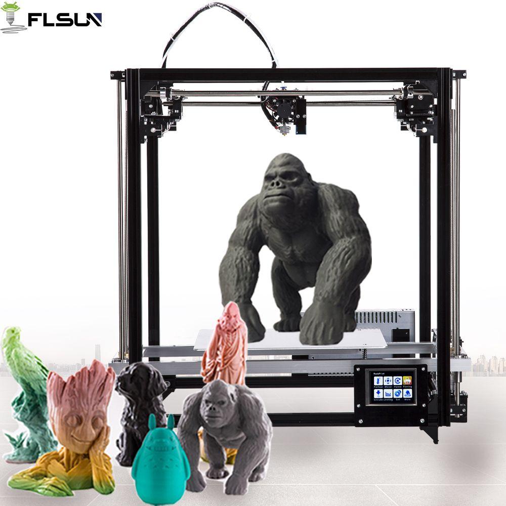 Flsun 3D Drucker Große Druck Größe 260*260*350mm DIY 3d Drucker Kit Mit Auto Level Erhitzt bett Touchscreen