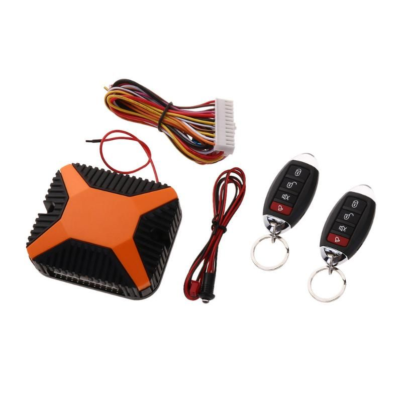 12V Car Auto Burglar Alarm Central Door Lock Keyless Entry Security System With Remote Controllers Car Alarm System Universal
