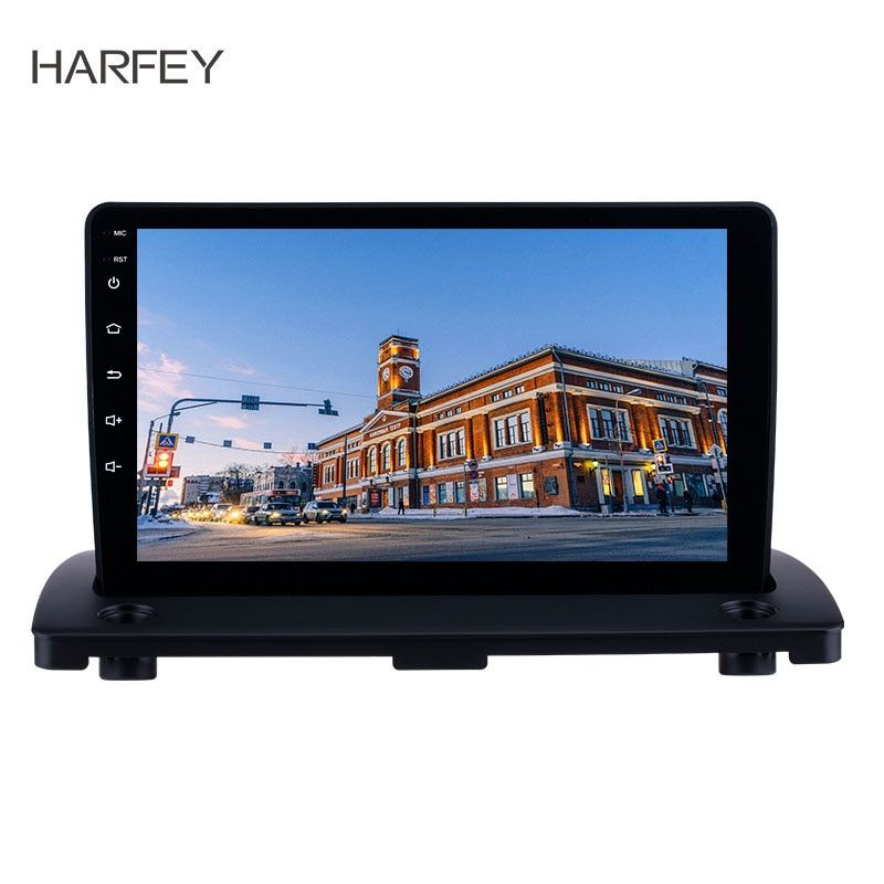 Harfey Android 8.1 9 zoll HD Touchscreen Radio für Volvo XC90 2004-2014 GPS Navigation WIFI Lenkung Wheeel Control DVR OBD2