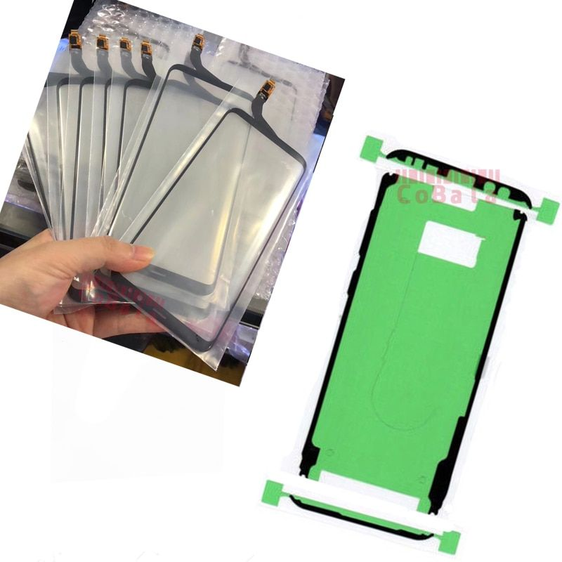 LOVAIN 1Pcs Original For Samsung Galaxy S8+ S8 Plus Edge G955F G955 Touch Screen Digitizer With Polarizer Panel+Adhesive Sticker