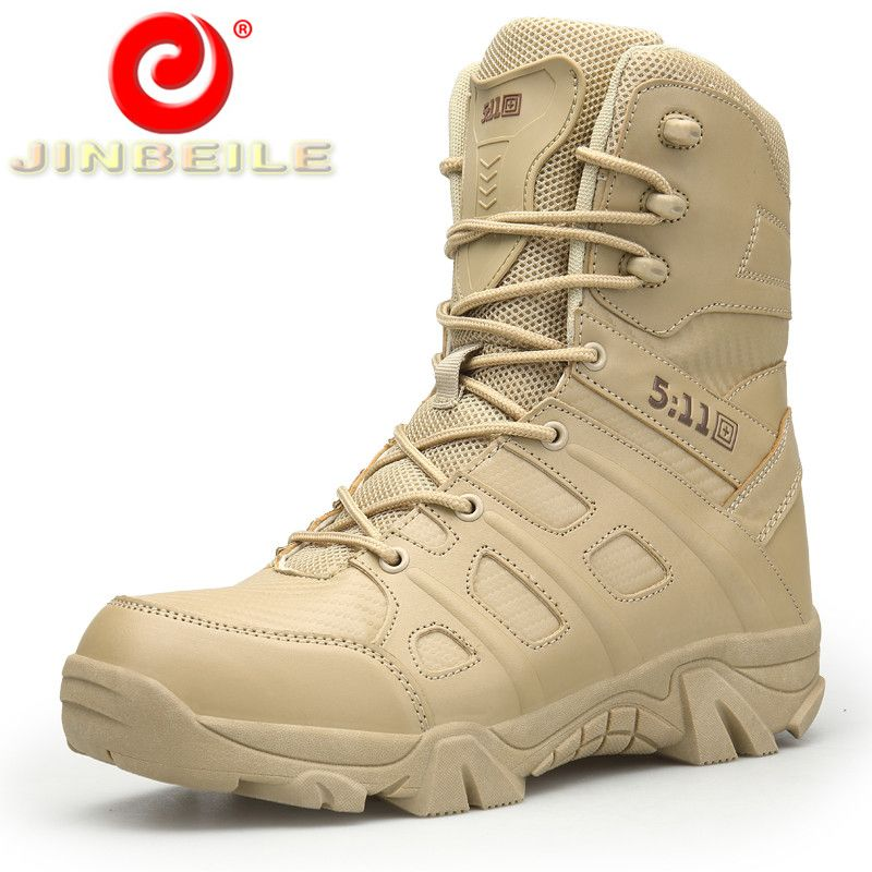 JINBEILE New Arrival High Quality Hiking Shoes Men Wear Resistant Men Sneakers High Waterproof PU Upper Outdoor Sports Shoes Men