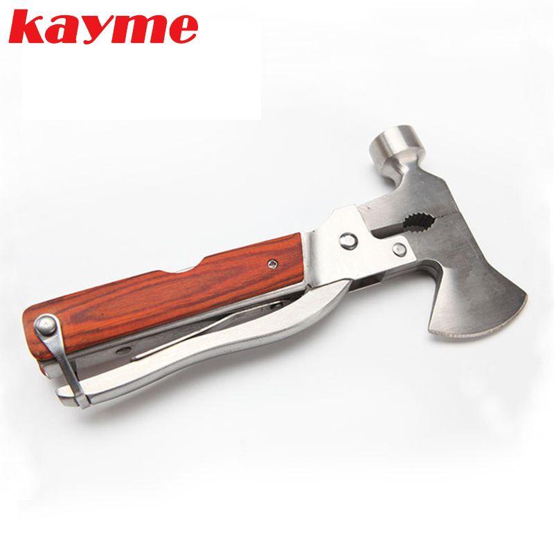 Kayme 19 in 1 Multifunctional Car Safety Hammer Emergency Rescue Tool Seat Belt Cutter Window Glass Break Outdoor Survival Tool