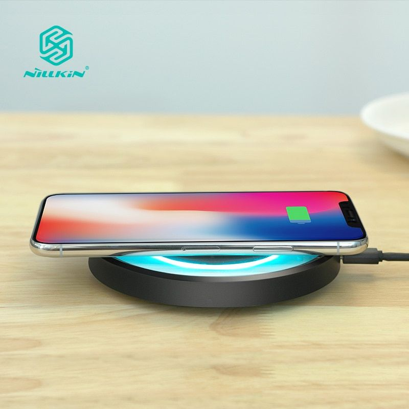 10W Fast Qi Wireless Charger station NILLKIN for iPhone X/8/8 Plus for Samsung Note 8/S8/S8 Plus qi wireless charger portable