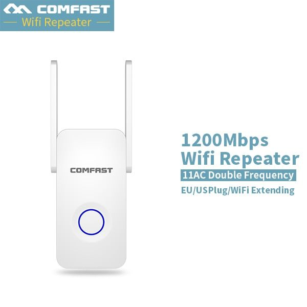 Comfast 1200Mbps Dual band 5G Wireless home wifi repeater bridge signal booster Amplifier Antenna wi fi access point repeater