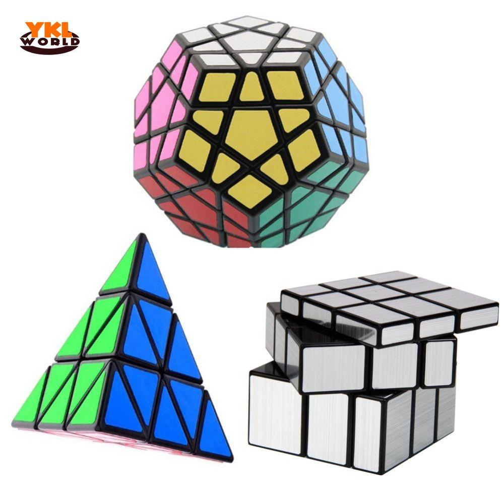 YKLWorld 3 pcs/ensemble Magique Cube Dodécaèdre & Triangle Magique Puzzle & 3x3x3 Profilé Cubes Magiques En Gros (S5