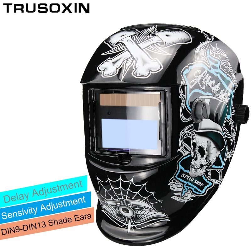 New Solar LI battery Automatic Darkening TIG MIG MMA MAG KR KC Electric Welding Mask/Helmets/Welder Cap for Welding Machine