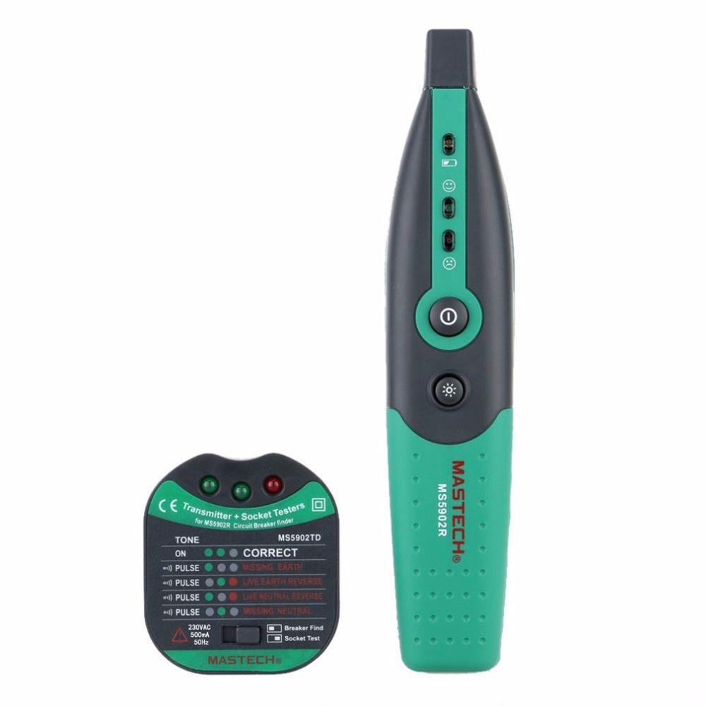 MASTECH MS5902 Schutzschalter LED Tester Finder CATII 600 V Zeroline 220 V EU