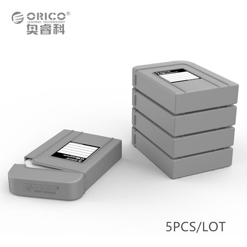 Orico Gray Protection Box support 3.5inch HDD with Strong snap lock 700g Storage Case
