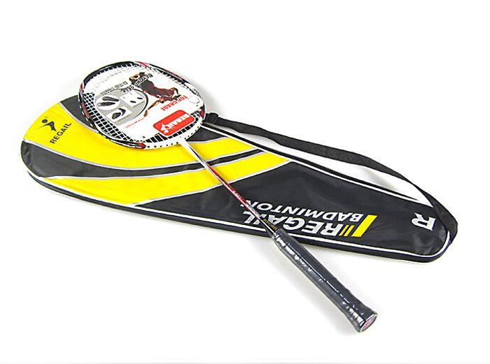 Regail Professional Match Carbon Fiber Badminton Racket Speed Battledore Racquet with Carry Bag R-800 New
