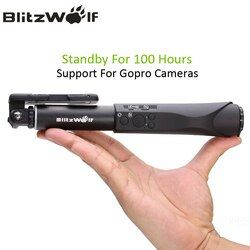BlitzWolf Bluetooth Wireless Selfie Stick Universal Portable Extendable Mobile Phone Monopod For Android For iPhone For Gopro