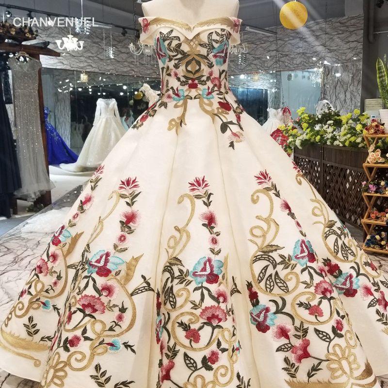 LSS490 bunte abendkleider bodenlangen weg von der schulter liebsten lace up zurück geschwollene prom kleider neue damen kleid 2019