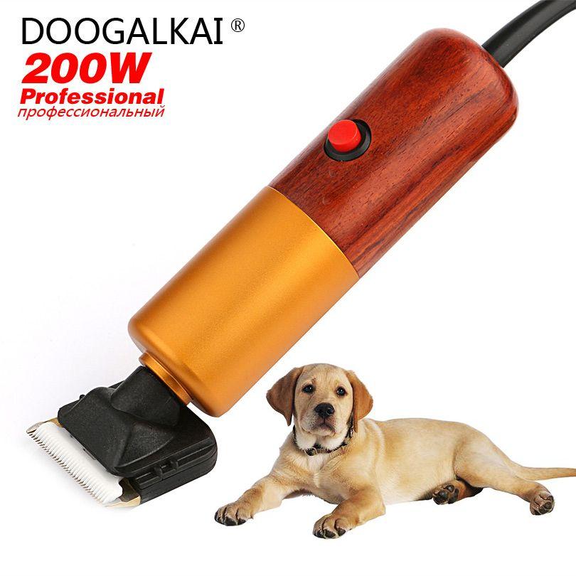 Kit de tondeuse chien/animal de compagnie pour retouches entre Groomings professionnels 200W régulation de vitesse en continu avec lames de tondeuse électrique