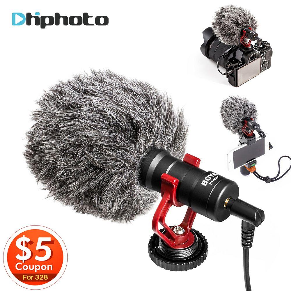 BOYA BY-MM1 Compact Sur-Caméra Vidéo Microphone Youtube Vlogging Enregistrement Mic pour iPhone Nikon Canon DSLR Lisse Q Feiyu cardan